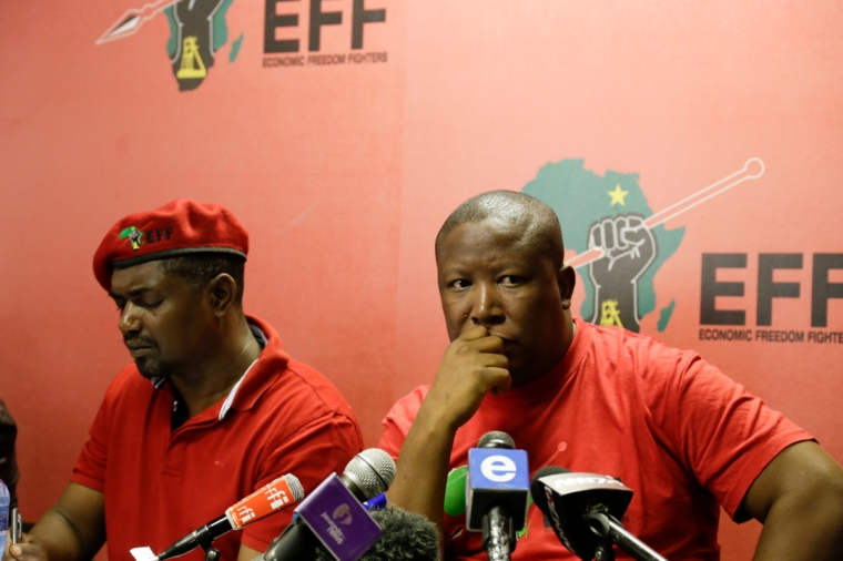 Julius Malema politician in red